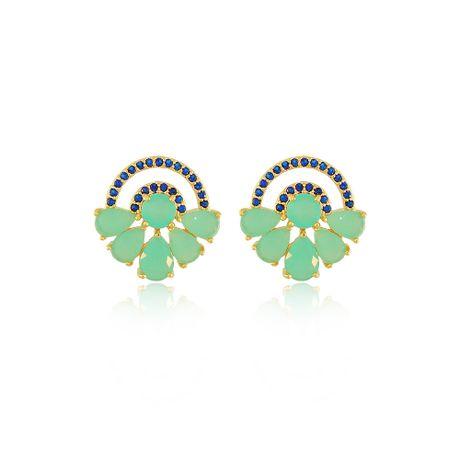 Brinco-Dourado-Gotas-Verdes-E-Zirconias-Azuis-0024000_1