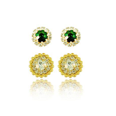 Duo-Brincos-Dourado-Pedras-Esmeralda-e-Cristal-00026076