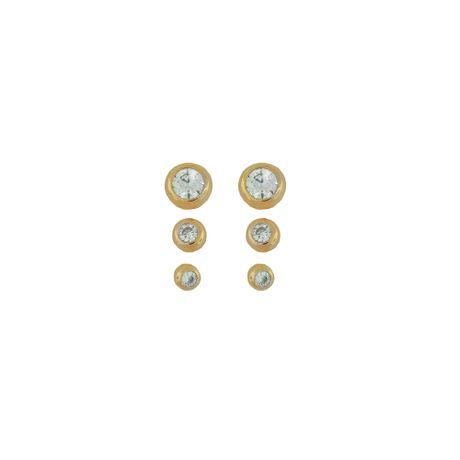 Trio-Brincos-Redondos-Ouro-Rose-Cristal-0026306