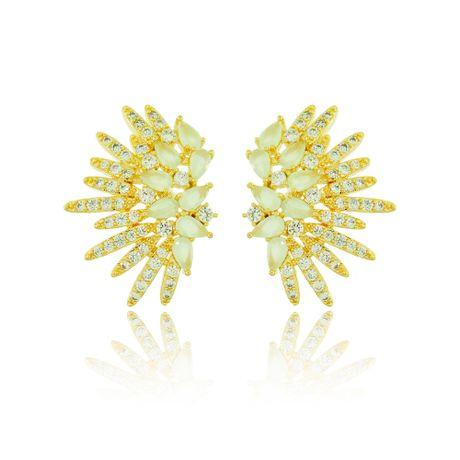 Brinco-Dourado-Gotas-Verde-Agua-e-Zirconia-Cristal---00027209