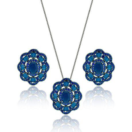 Conjunto-Colar-Rodio-Negro-Pingente-Flor-Azul---00026877