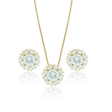 Conjunto-Colar-Dourado-Flor-Cristal---00026893