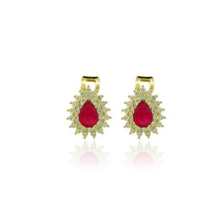 Brinco-de-Pressao-Dourado-Gota-Rubelita-e-Zirconias-Cristal---00026760