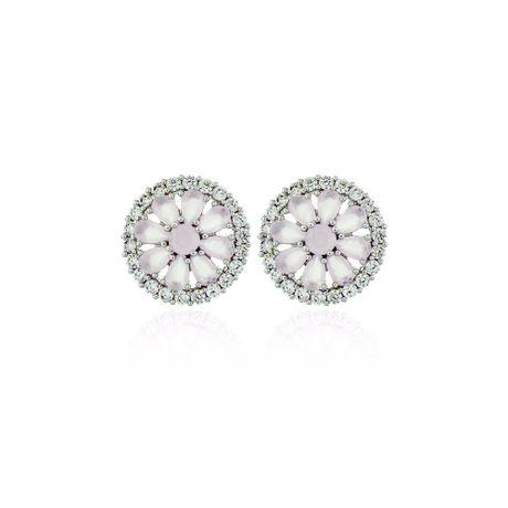 Brinco-Rodio-Flor-Quartzo-Rosa-e-Cristal---00026824