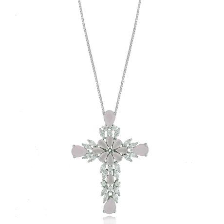 Colar-Rodio-Crucifixo-Gotas-Quartzo-Rosa--00026863