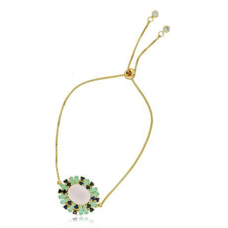 Pulseira-Dourada-Pedras-Color---00027150