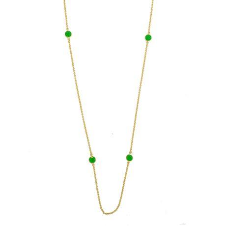 Colar-Dourado-Entremeios-Ponto-de-Luz-Verde-00027676