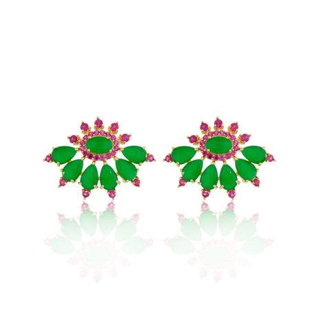 Brinco-Dourado-Gotas-Jade-e-Zirconias-Rubelita---00028206