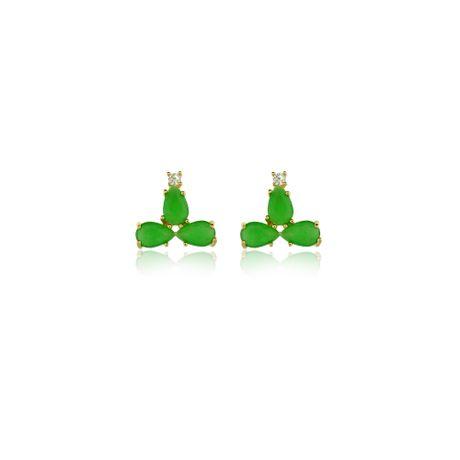 Brinco-Dourado-Gotas-Verde---00028263