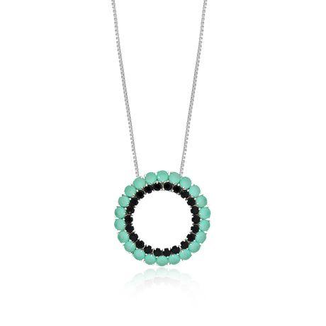 Colar-Rodio-Mandala-Zirconias-Aquamarine-e-Preto---00028444