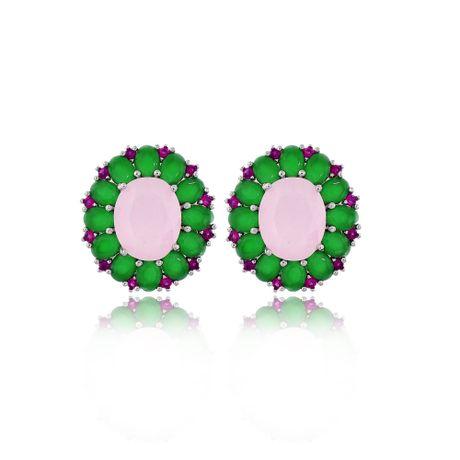 Brinco-Dourado-Pequeno-Oval-Rosa-e-Verde----00028329