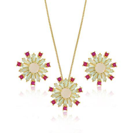 Conjunto-Colar-Dourado-Vidrilhos-Cristal-e-Pedra-Oval-Quartzo-Rosa---00028464