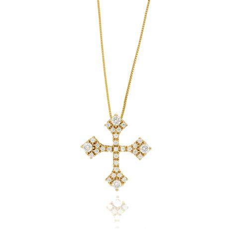 Colar-Dourado-Cruz-Zirconias-Cristal---00029002