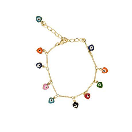 Pulseira-Dourada-Coracao-Olho-Grego-Color---00029228