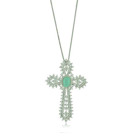 Colar-Crucifixo-Pedra-Aquamarine---00029671