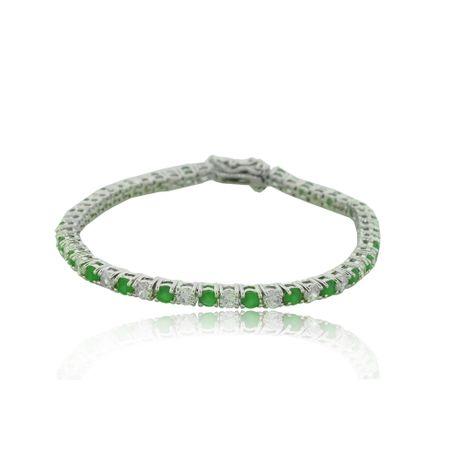 Pulseira-Rodio-Pedra-Verde-e-Cristal---000296680