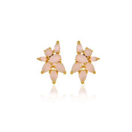 Brinco-Dourado-Pedras-Quartzo-Rosa---00030432