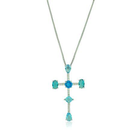 Colar-Rodio-Cruz-Zirconias-Azul---00030423