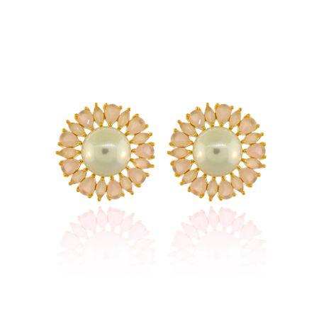 Brinco-Dourado-Perola-Pedras-Quartzo-Rosa----00030405