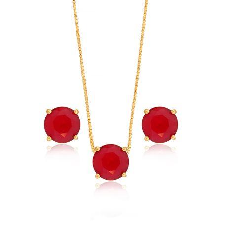 Conjunto-Colar-Dourado-Redondo-Rubi---00030383