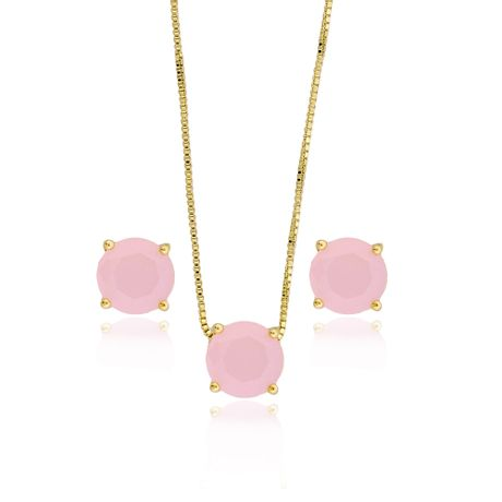 Conjunto-Colar-Dourado-Redondo-Quartzo-Rosa---00030382