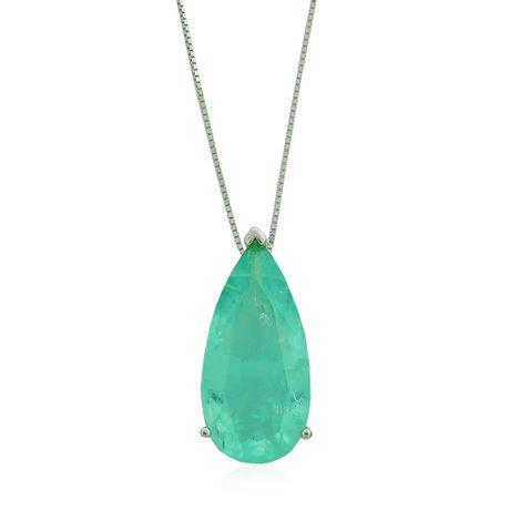 Colar-Prata-925-Maxi-Gota-Fusion-Verde-Agua---00031539