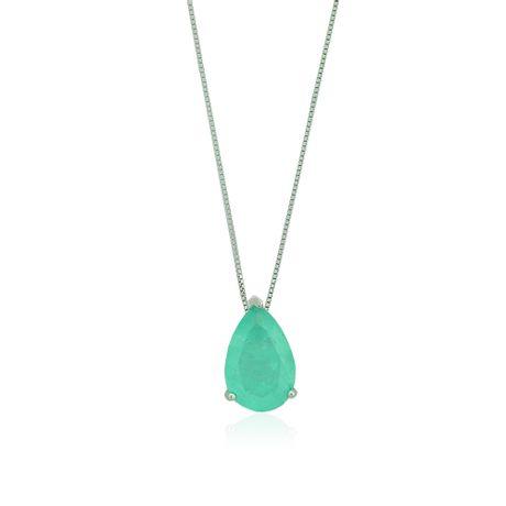 Colar-Prata-925-Mini-Gota-Fusion-Verde-Agua---00031528