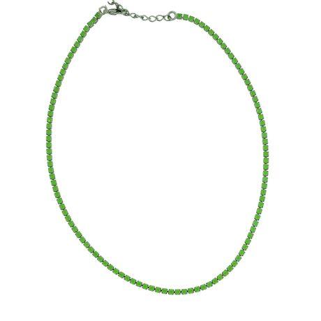 Gargantilha-Choker-Grafite-Verde-----00031802