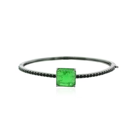 Bracelete-Grafite-Pedra-Quadrada-Fusion-Verde---00032803