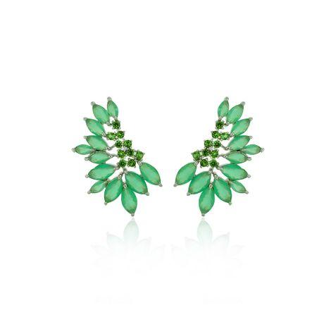Brinco-Ear-Cuff-Rodio-Navetes-Verde-e-Zirconias---00033324