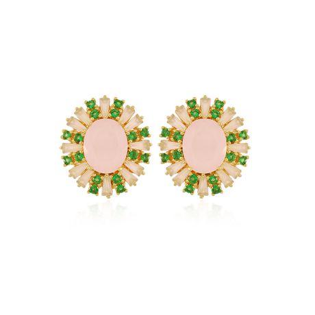 Brinco-Dourado-Quartzo-Rosa-e-Esmeralda---00031635