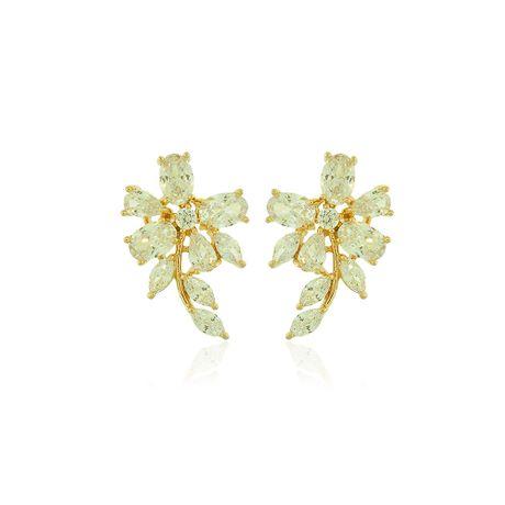Brinco-Dourado-Flor-Gotas-Cristal---00033176