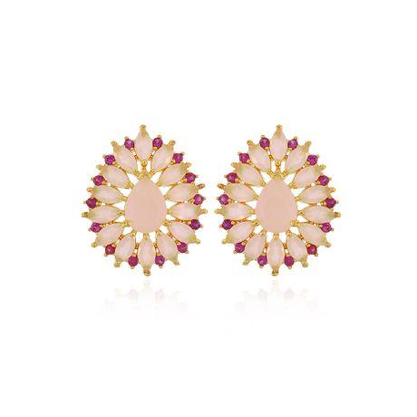 Brinco-Dourado-Gota-Quartzo-Rosa-e-Rubelita---00033380