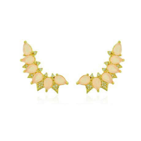 Brinco-Ear-Cuff-Dourado-Gotas-Quartzo-Rosa---00033450