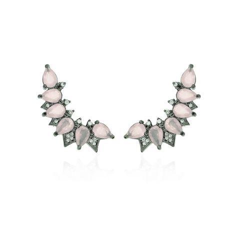 Brinco-Ear-Cuff-Grafite-Pedra-Quartzo-Rosa-e-Zirconias-Cristal---00024803