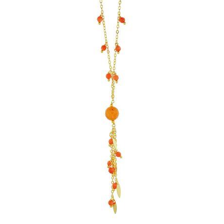 Colar-Dourado-Critais-Laranja---00033858
