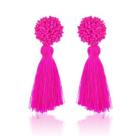 Brinco-Esfera-Micangas-e-Tassel-Pink---00034882