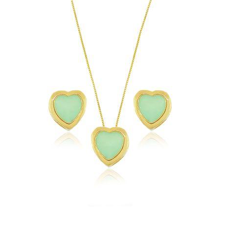 Conjunto-Dourado-Coracao-Verde-Agua-Pequeno---0003460