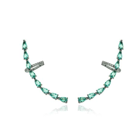 Brinco-Ear-Cuff-Grafite-Gotas-Turmalina-e-Zirconias-Cristal---00034916
