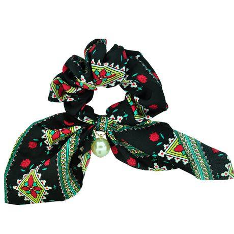 Scrunchie-Lenco-Estampado-Preto-e-Flores---00035435