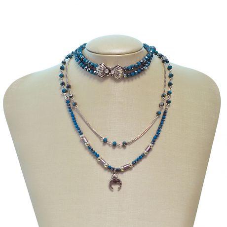 Gargantilha-Choker-Rodio-Cristais-Azul-e-Concha---00035367