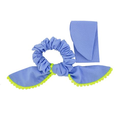 Scrunchie-Lenco-Azul-e-Pompom-Verde-Fluorescente---00035834