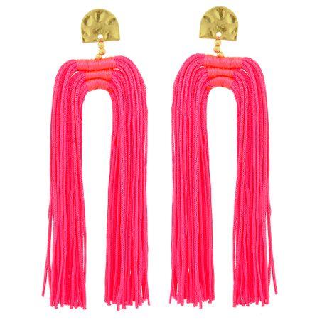 Brinco-Tassel-Duplo-Pink-Fluorescente---00035955