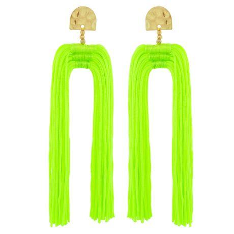 Brinco-Tassel-Duplo-Verde-Fluorescente---00035954