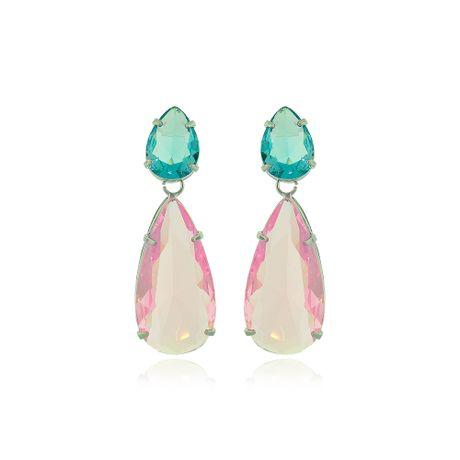 Brinco-Rodio-Gotas-Rosa-e-Aquamarine---00036150