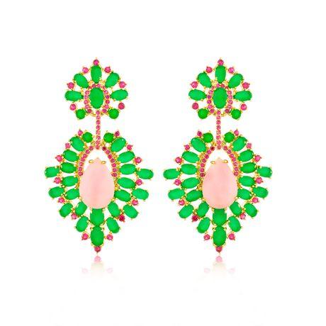 Brinco-Dourado-Pedras-Jade-e-Quartzo-Rosa---00036478