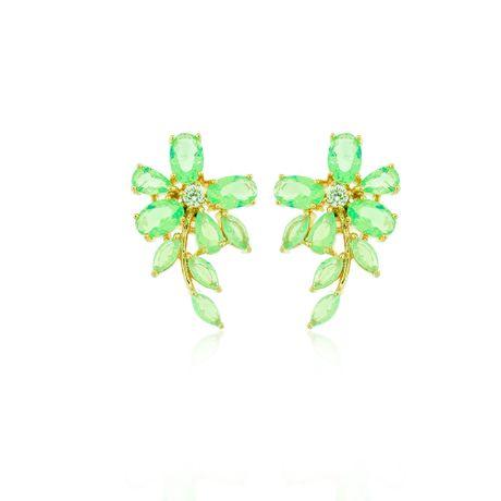 Brinco-Dourado-Flor-Gotas-Verde-Agua---00036464