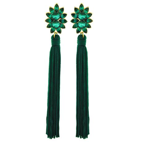 Brinco-Flor-Navete-Tassel-Verde---00036739