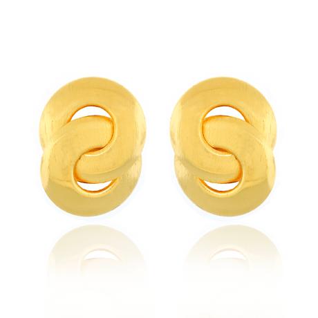 Brinco-Dourado-Argola-Fosco-Entrelacadas
