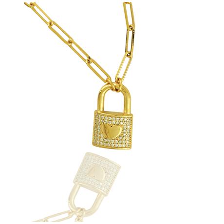 00043711-Colar-Dourado-Cadeado---Detalhe
